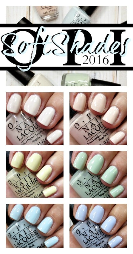 OPI SoftShades 2016 Nail Polish Swatches review photos pics pinterest