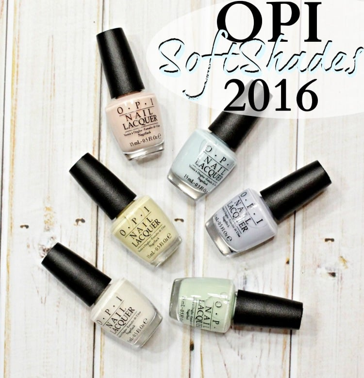 OPI SoftShades 2016 swatches review nail polish collection