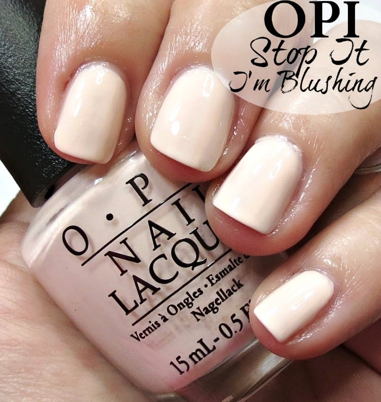 OPI Stop It I'm Blushing Nail Polish Swatches