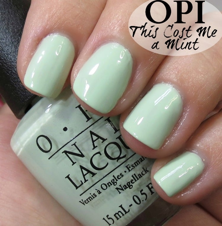 OPI This Cost Me a Mint Nail Polish Swatches