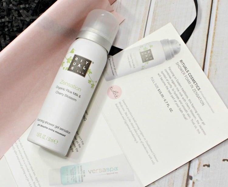 Rituals Cosmetics Shower Foam in Zensation review