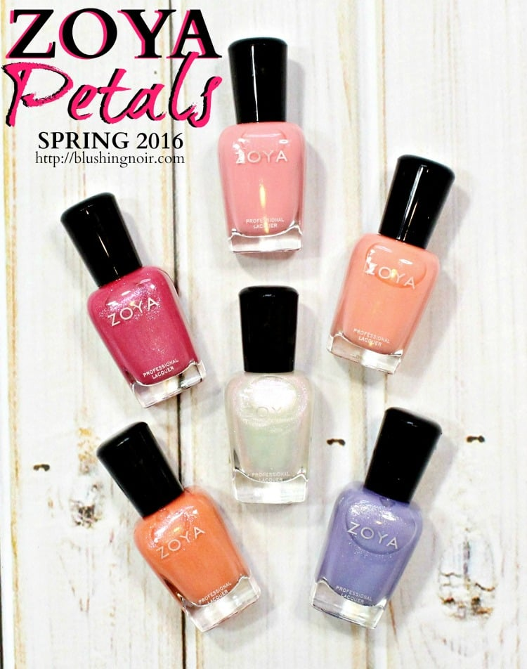 Zoya Petals Nail Polish Collection Swatches + Review