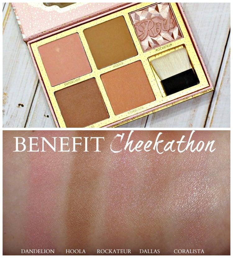 Benefit Cheekathon Blush Palette swatches swatch pics