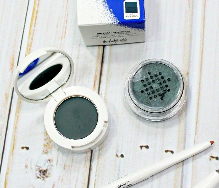 Estee Edit AquaNova Metallishadow Crème + Powder swatches review pics swatch