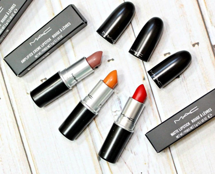 MAC Really Me, Nifty Neon, Red Rock Lipstick Swatches + Review // Bangin' Brilliant!