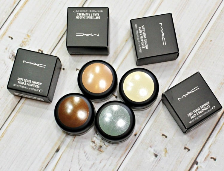MAC Soft Serve Shadow review eyeshadow swatches