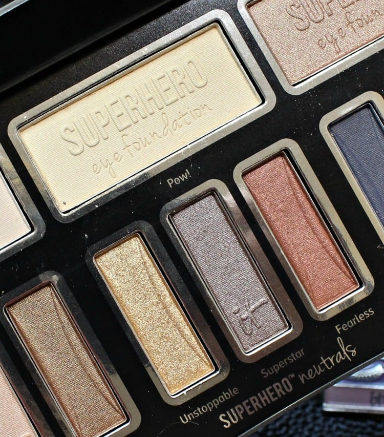 IT Cosmetics Superhero eyeshadow palette swatches 2