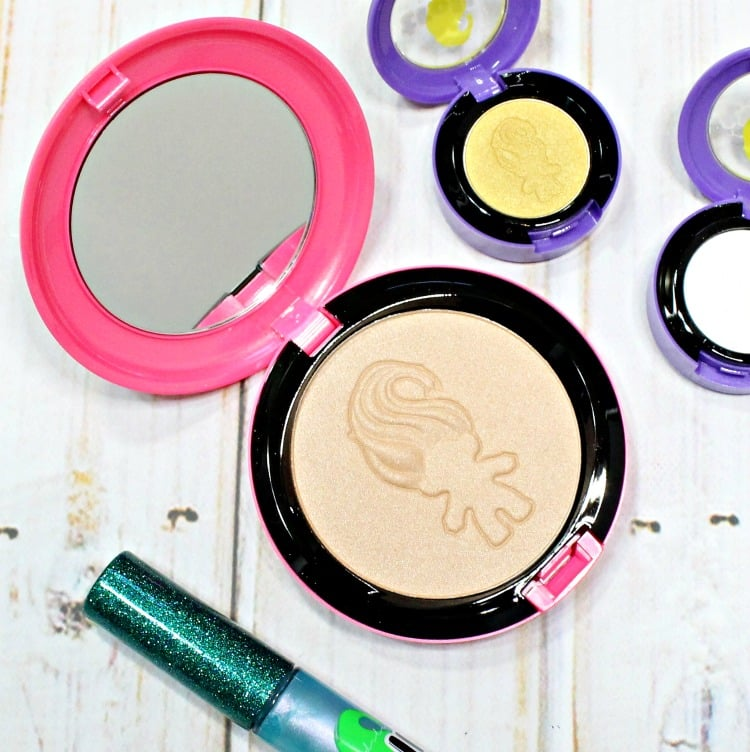 MAC Good Luck Trolls Glow Rida Beauty Powder swatches review swatch pics