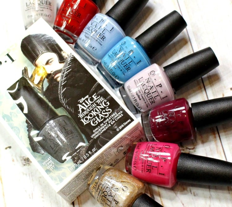 Disney alice in wonderland nail polish through the looking glass collection swatch