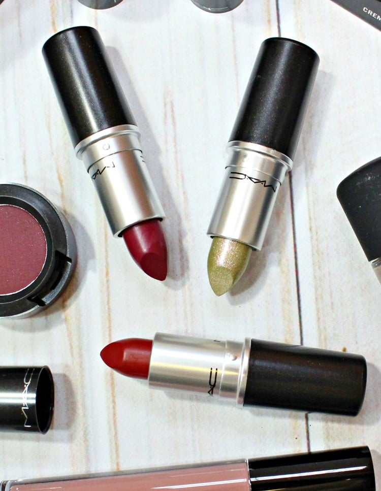 MAC It's a Strike Lipstick Liquid Lurex swatches review swatch pics Perfect Score Babes and Balls