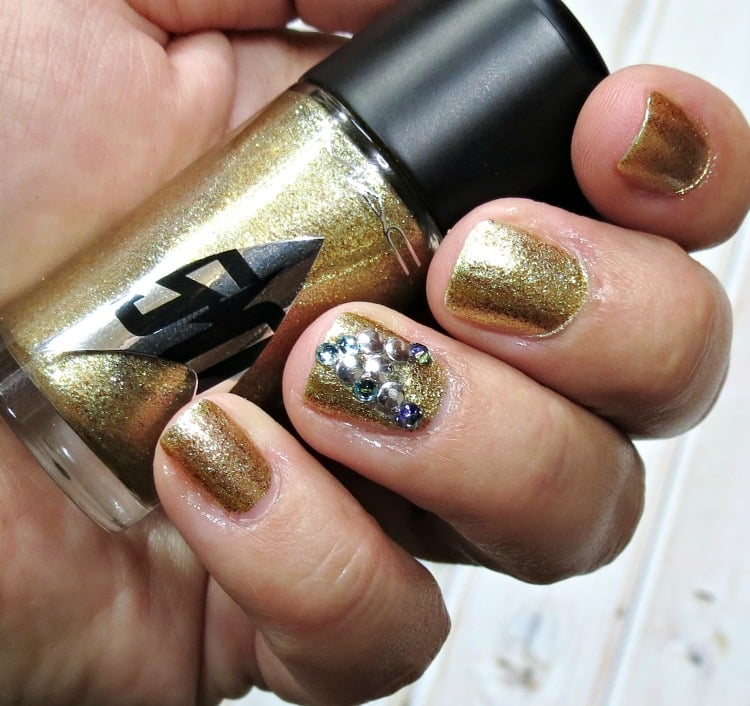 MAC Star Trek Holla-deck swatches review swatch pics insignia nail art polish