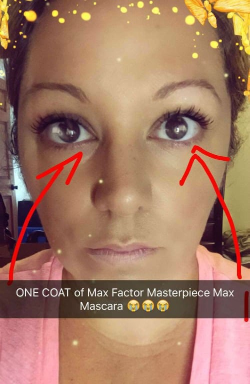 Max Factor Masterpiece MAX Mascara swatches review swatch pics