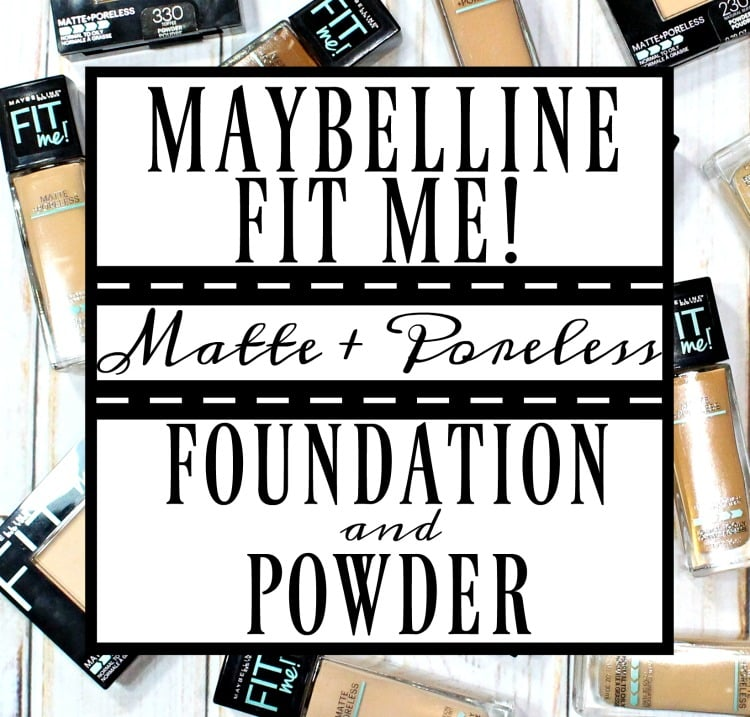 Maybelline® FIT ME!® Matte + Poreless Foundation & Powder Swatches + Review