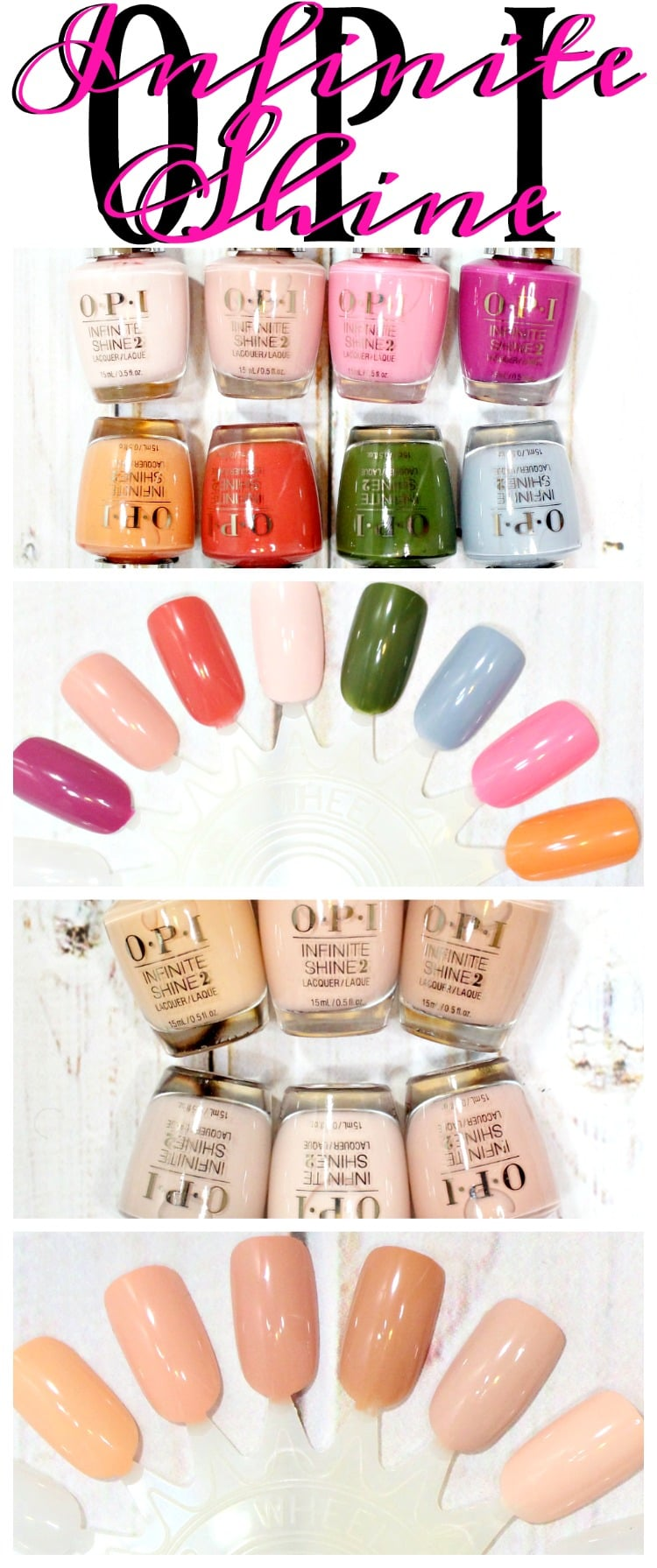 OPI Infinite Shine Spring Summer 2016 nail polish swatches review swatch pics pinterest