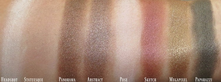PUR Cosmetics Love Your Selfie 2 palette eyeshadow swatches review swatch pics