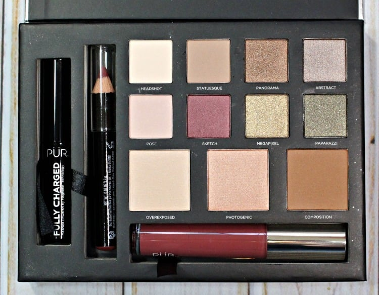 PUR Cosmetics Love Your Selfie 2 palette swatches review swatch pics eyeshadow photos mascara