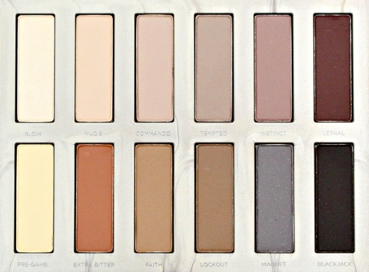 Urban Decay Naked Ultimate Basics Holiday 2016 eyeshadow palette swatches review swatch pics photos