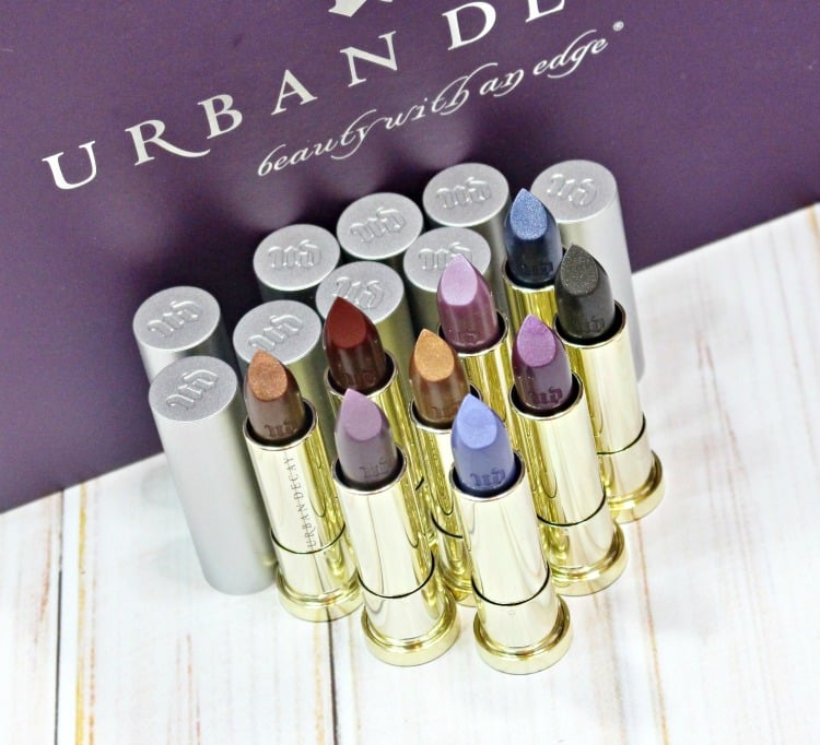 Urban Decay Vice Lipstick Vintage Capsule Collection swatches review swatch pics Holiday 2016 #UDXX