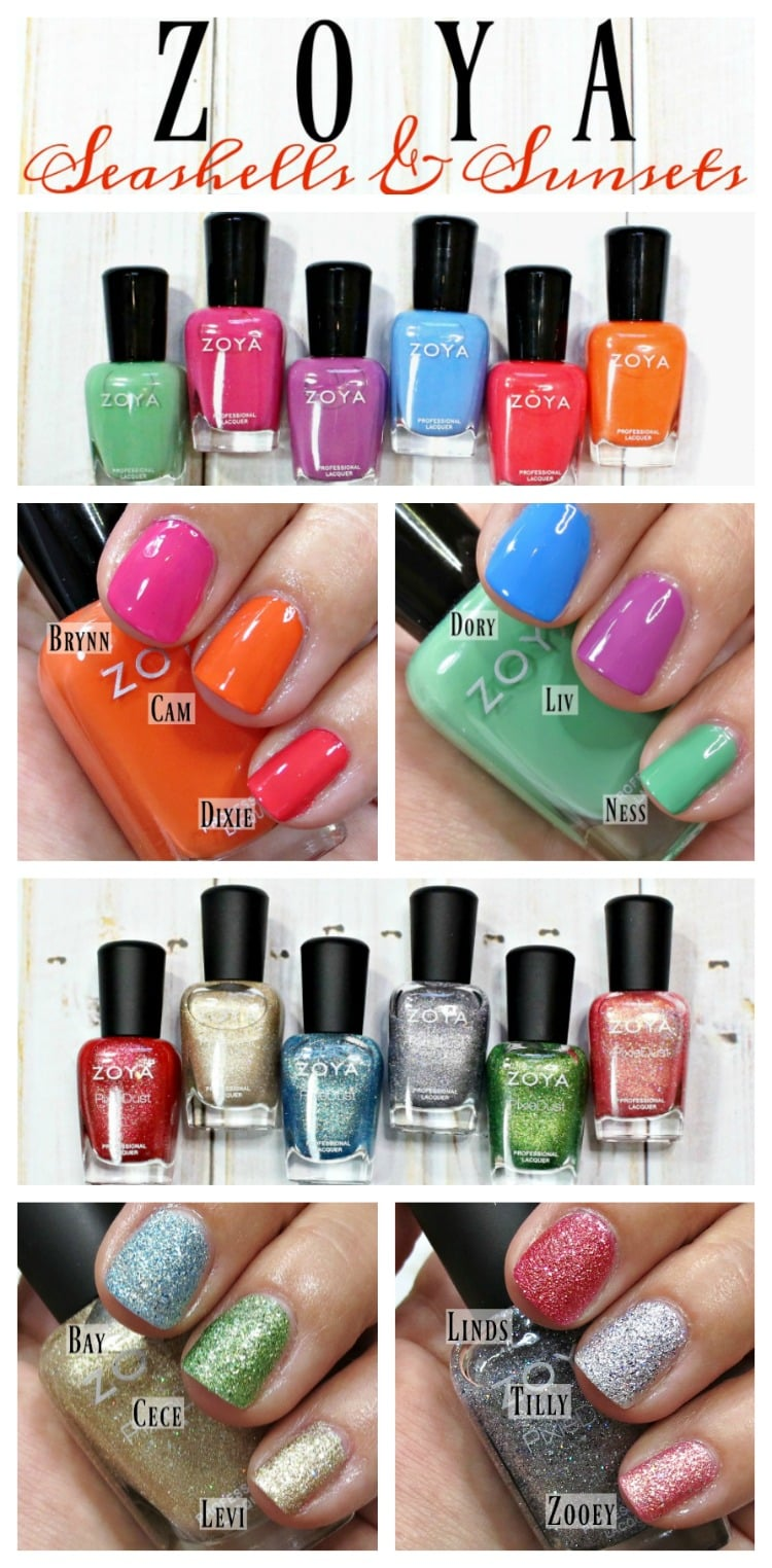 Zoya Seashells & Sunsets Summer 2016 Nail Polish Collection swatches review swatch pics