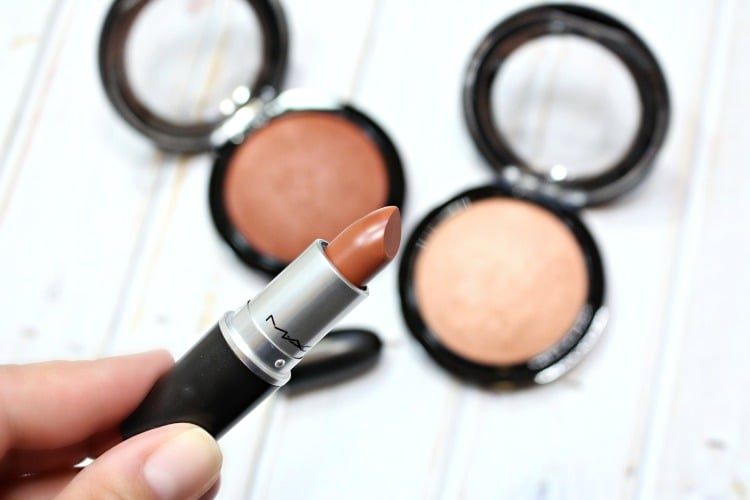 MAC Strip Me Down Lipstick Swatches Review Swatch pics
