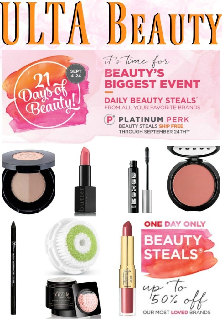 ULTA Beauty 21 Days of Beauty Sale Event Info