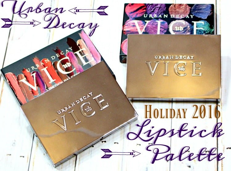 Urban Decay Vice Lipstick Palettes Swatches + Review // Holiday 2016