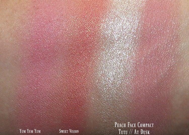 mac-nutcracker-sweet-magic-dust-powder-blush-swatches-review-swatch-pics-peach-face-compact-tutu-at-dusk
