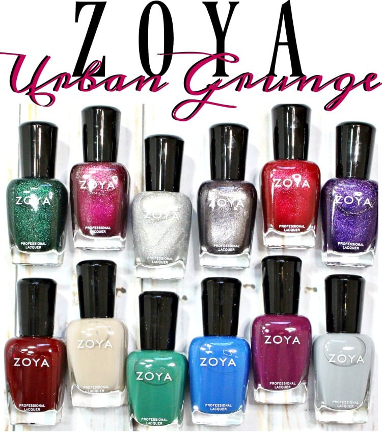 Zoya Urban Grunge Nail Polish Collection Swatches + Review // Fall 2016