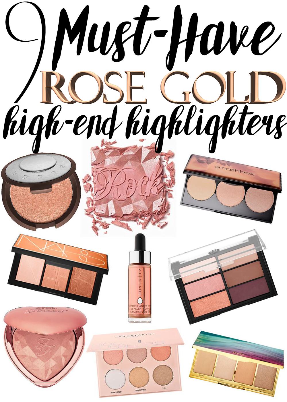 9 Must-Have Rose Gold Highlighters