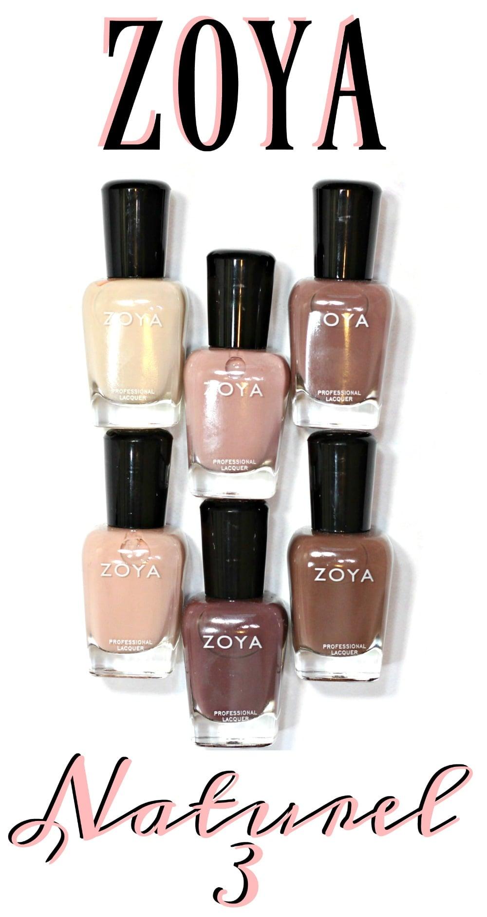 Zoya Naturel3 Nail Polish Swatches + Review