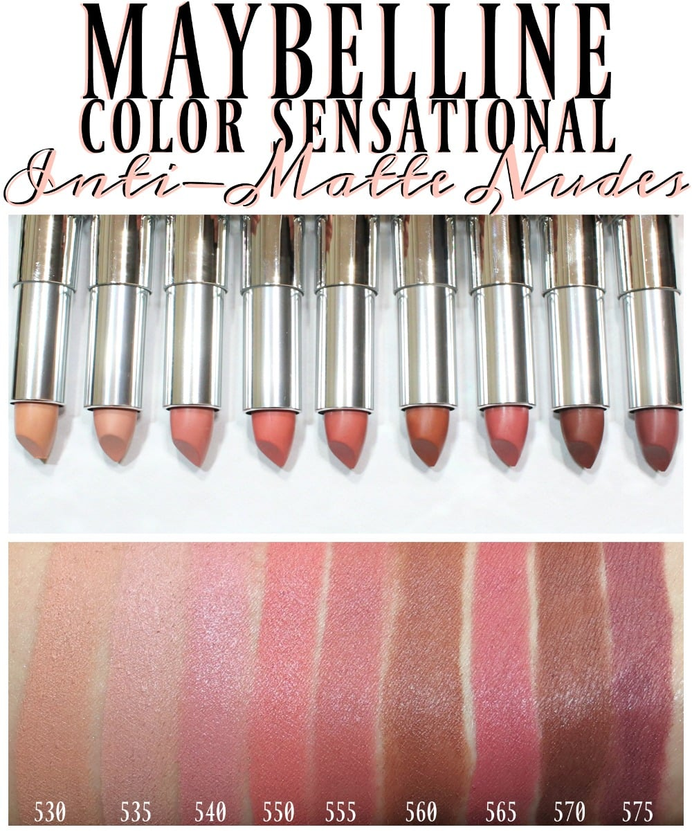 12 Sensational Schemes That Are: Maybelline Color Sensational Inti-Matte Nudes Lipstick