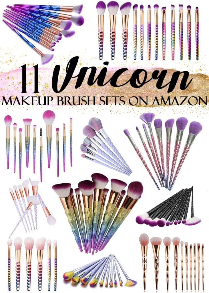 11 Affordable Unicorn Makeup Brush Sets