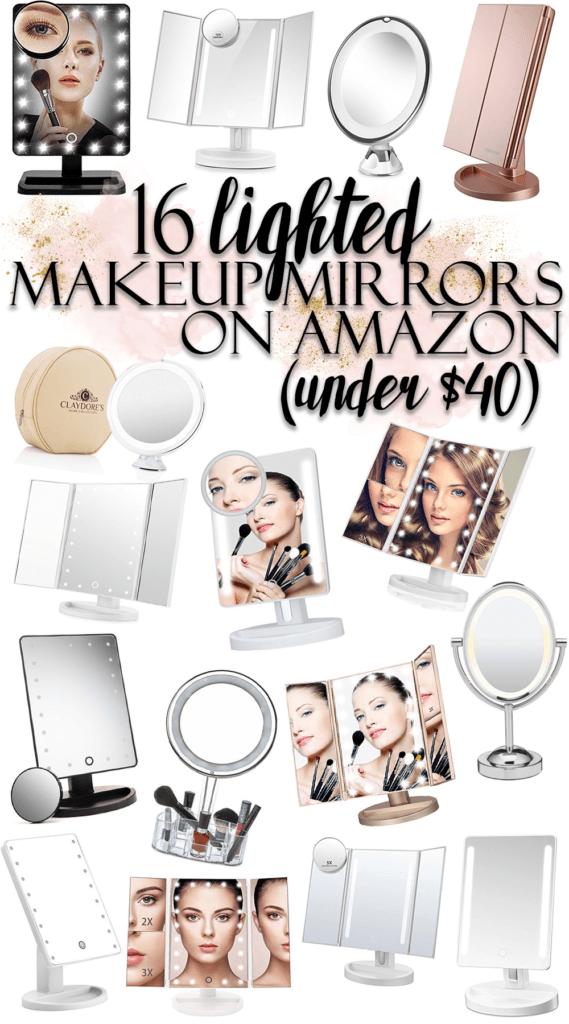 16 Vanity Makeup Mirrors on Amazon (all under $40!)