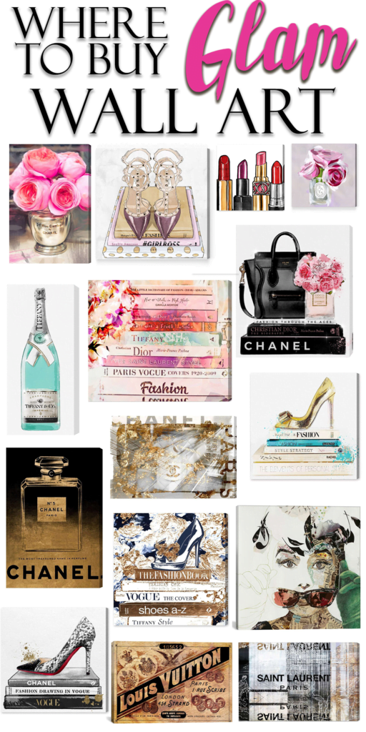 The BEST Glam Wall Decor & Where to Buy It