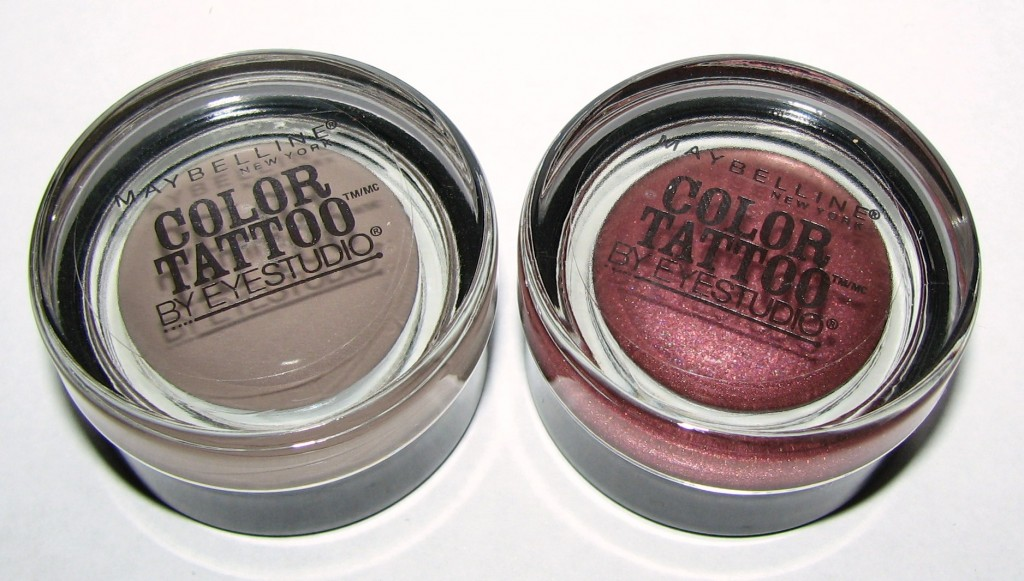 Maybelline tough as taupe and pomegranate punk eye studio for Maybelline color tattoo gel eyeshadow