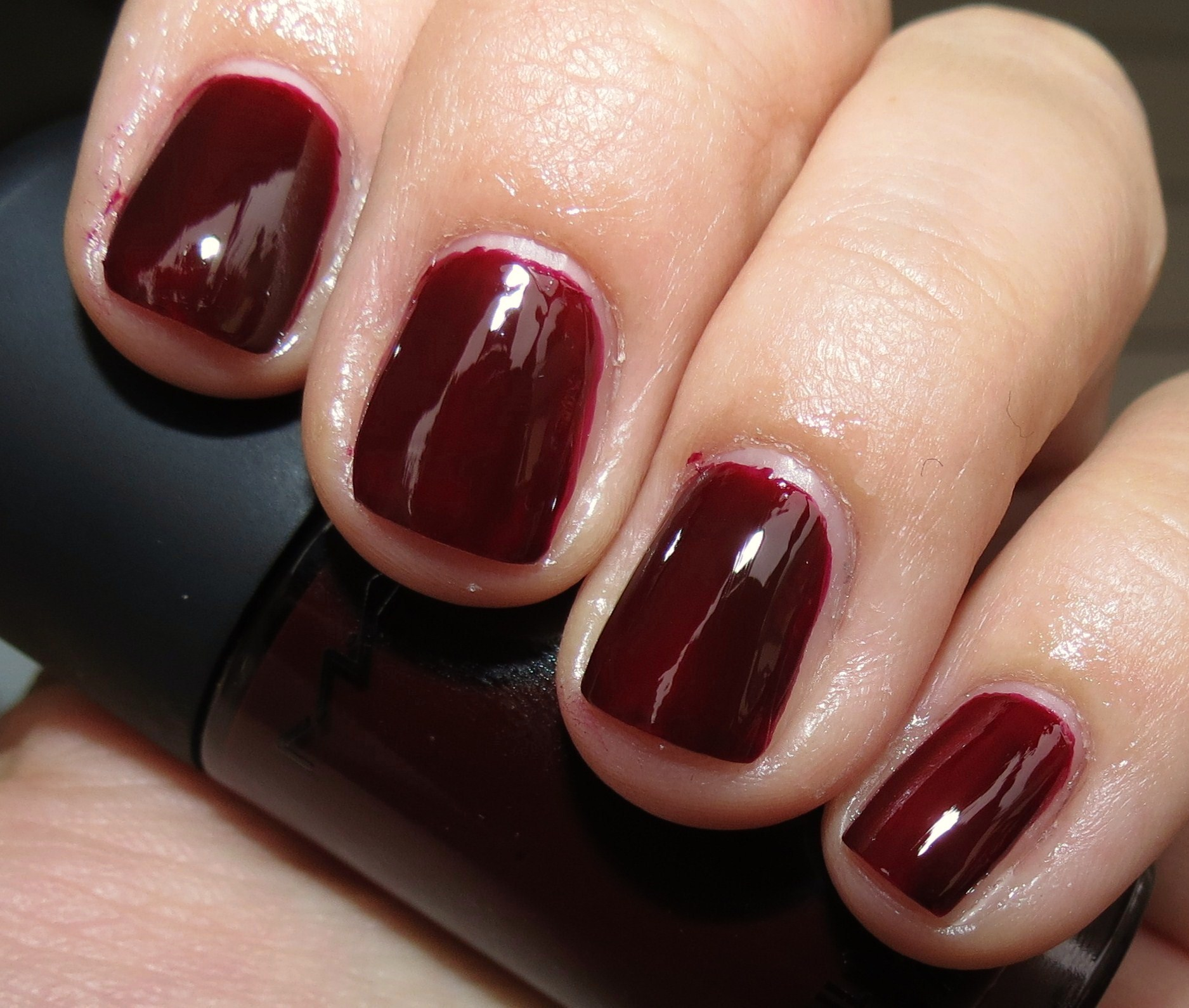 Deep Wine Nail Polish: MAC Vintage Vamp Nail Polish Swatches & Review