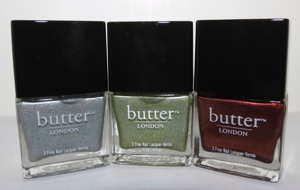 Butter London DODGY BARNETT, TRUSTAFARIAN, SHAG Nail Polish Swatches & Review - Fall/Winter 2012 - Blushing Noir