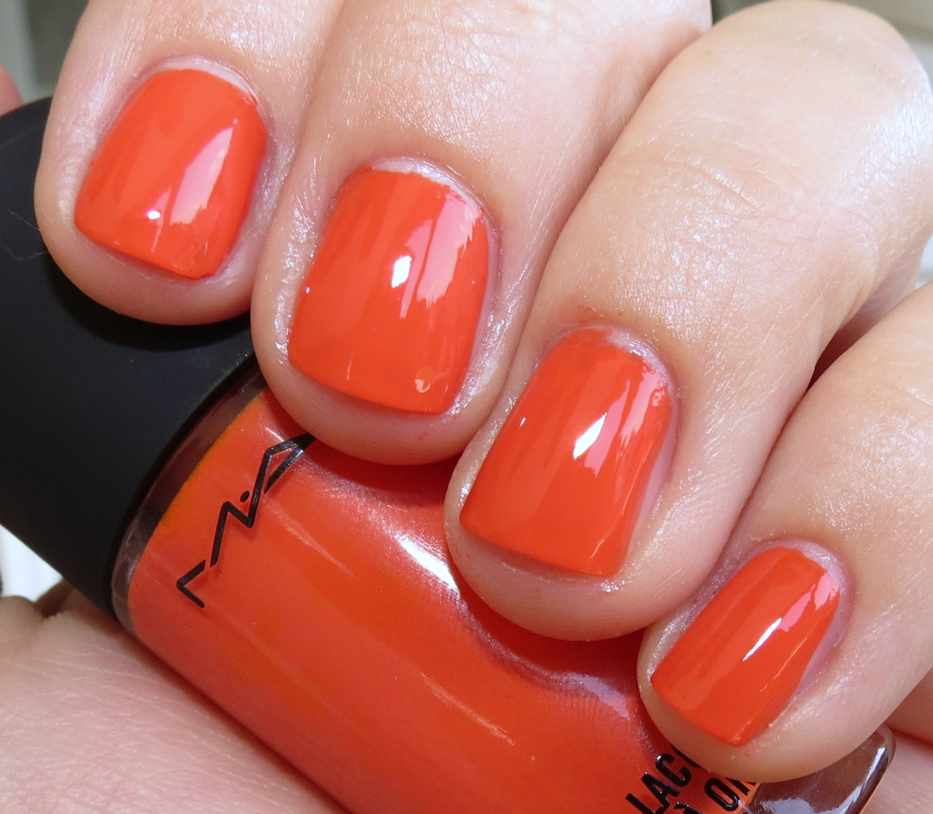 MAC Morange Nail Polish Swatches & Review – MAC Nail Lacquers ...