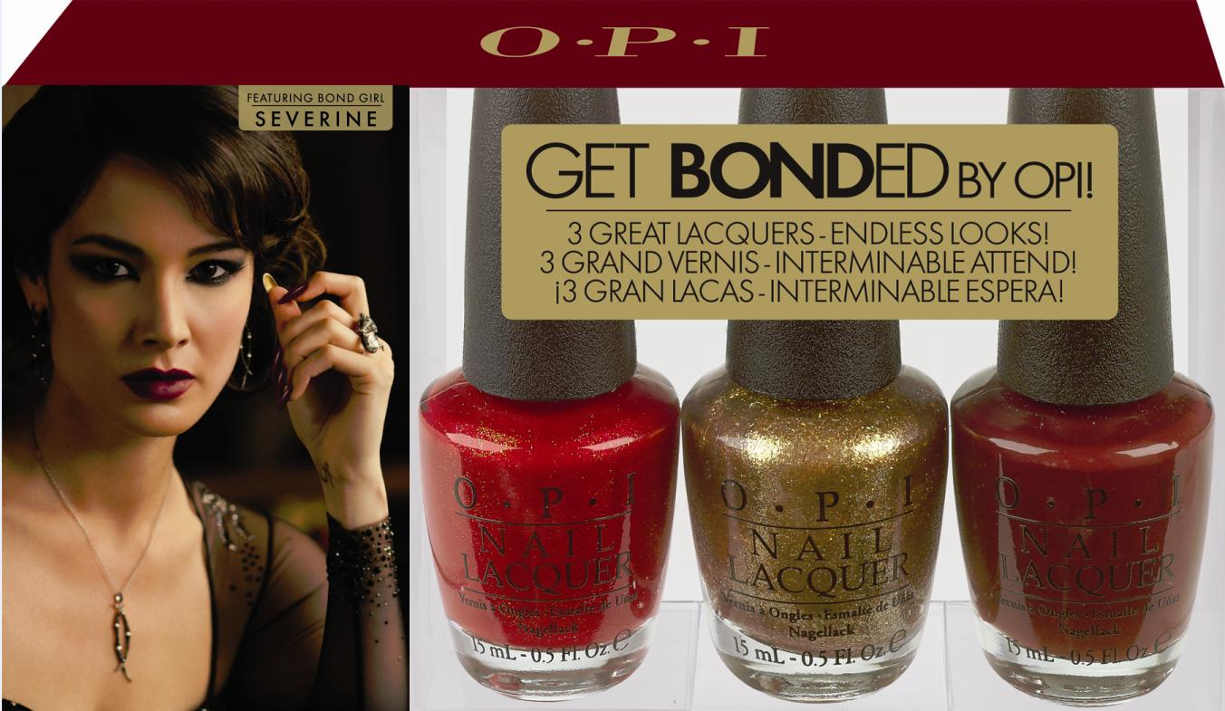 Get Bonded with OPI\'s Bond Manicure for Holidays - Blushing Noir