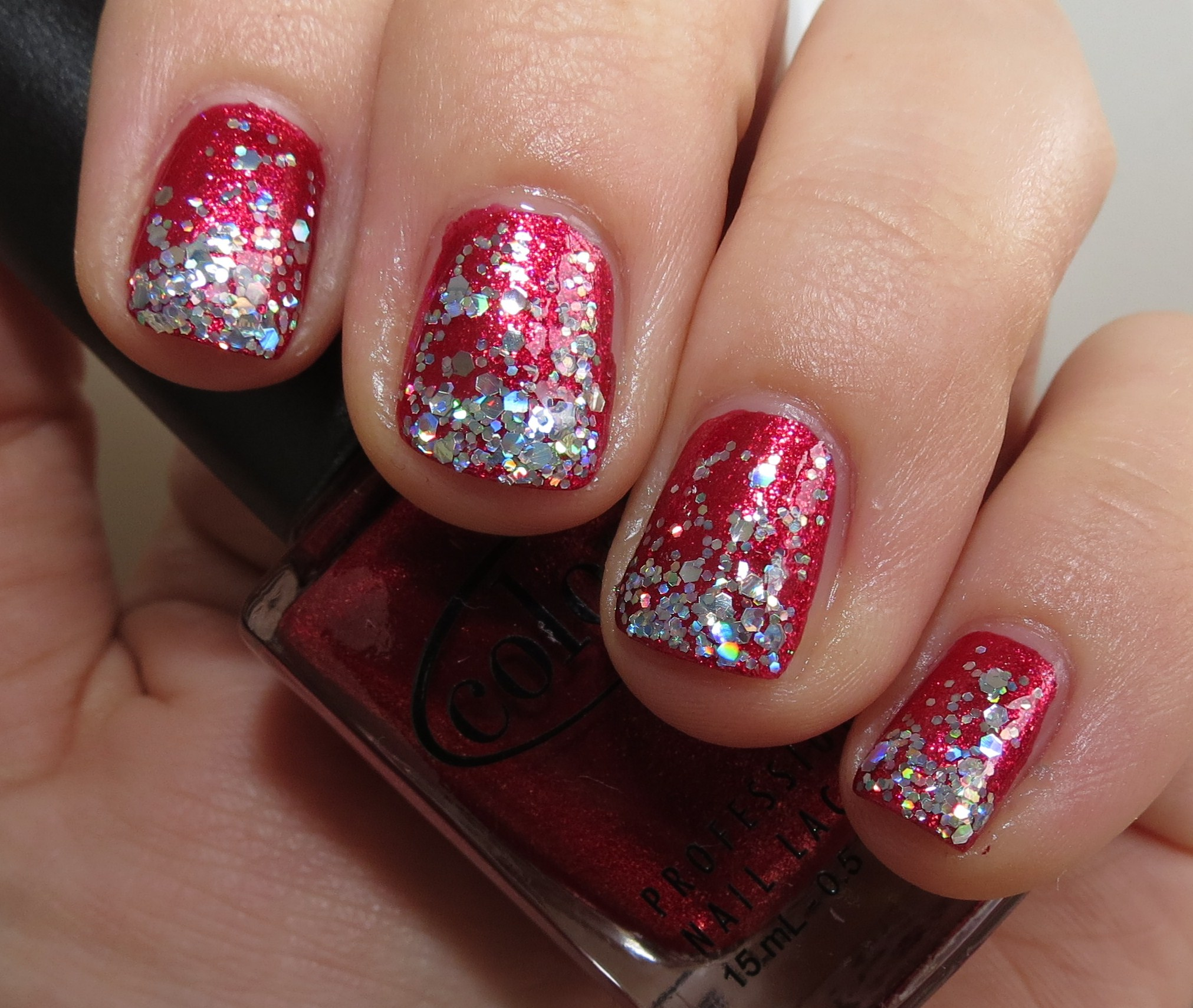 Holiday Nail Fun with Color Club Berry and Bright & Finger Paints ...