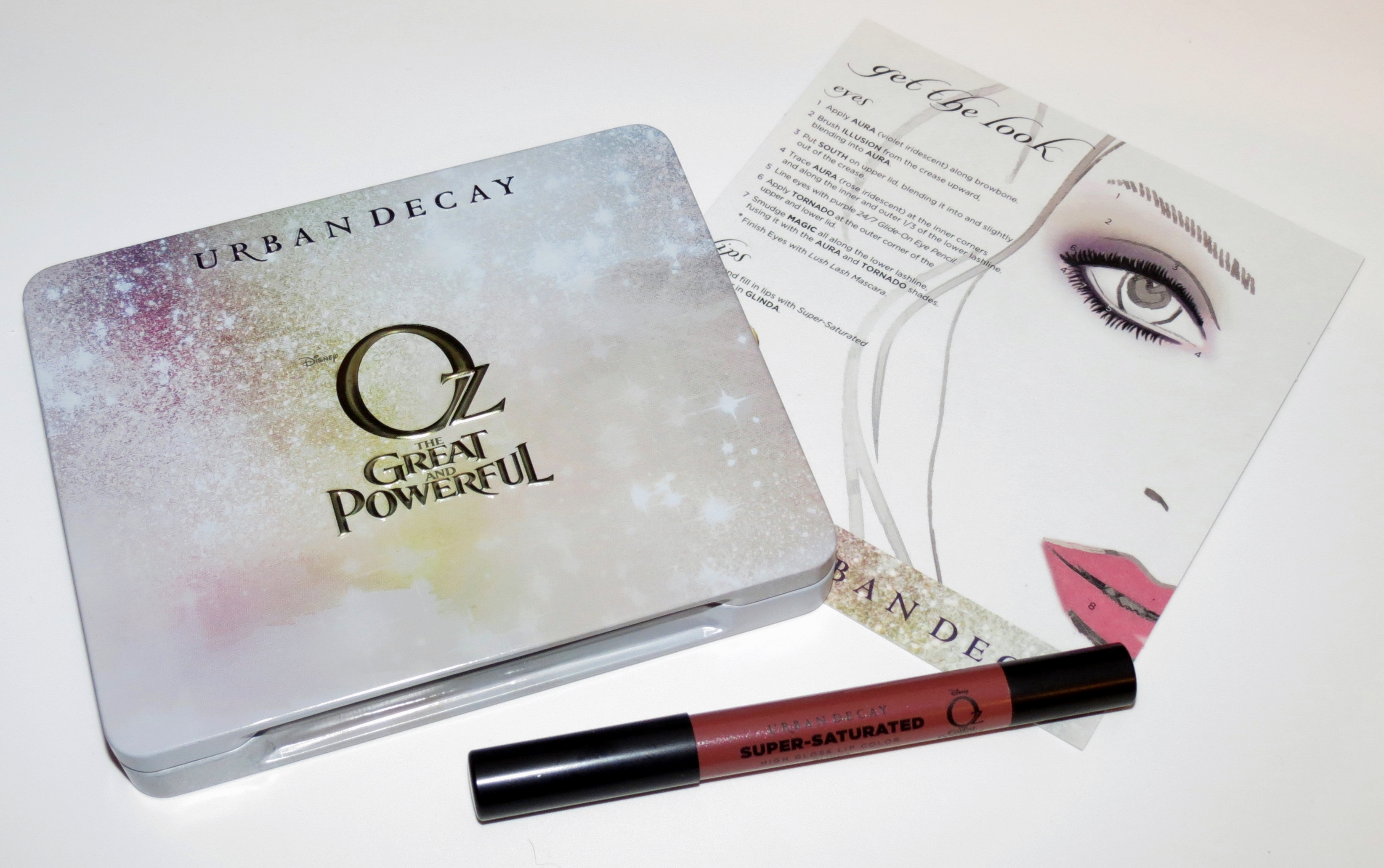urban decay the glinda palette swatches  review and fotd