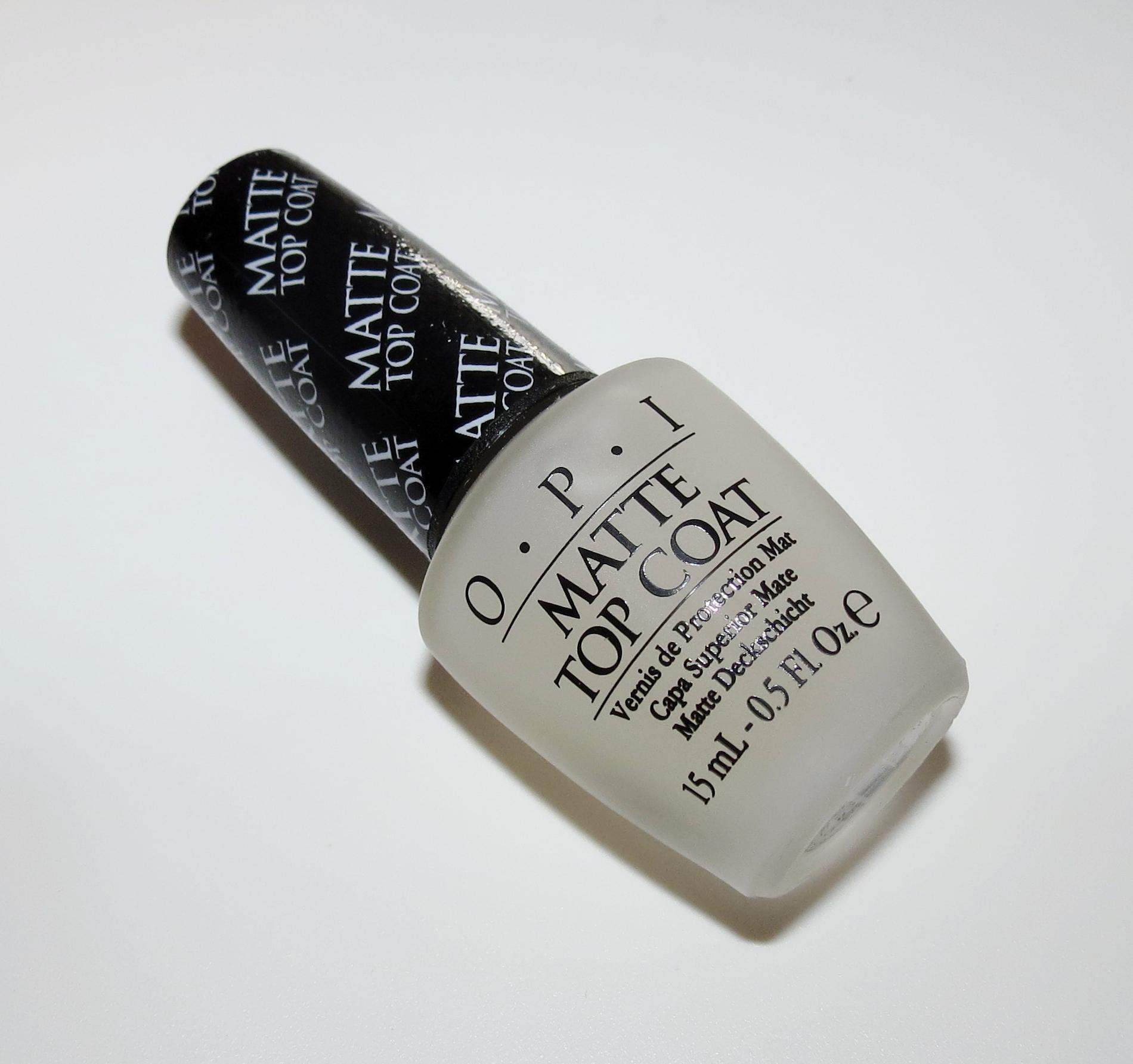 OPI Matte Top Coat Nail Polish Swatches & Review - Blushing Noir