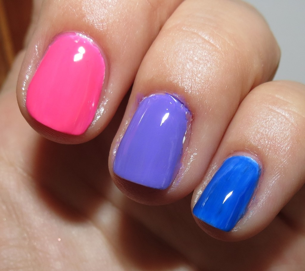 Neon Blue Nail Polish: Nicole By OPI Scandalous! Neons & Notorious! Neons Nail