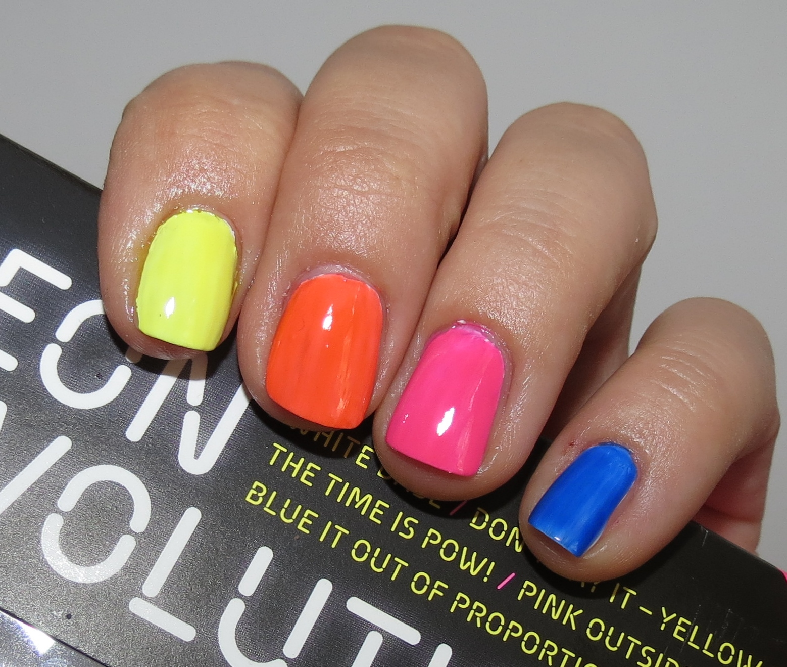 OPI Neon Revolution Nail Polish Swatches Review