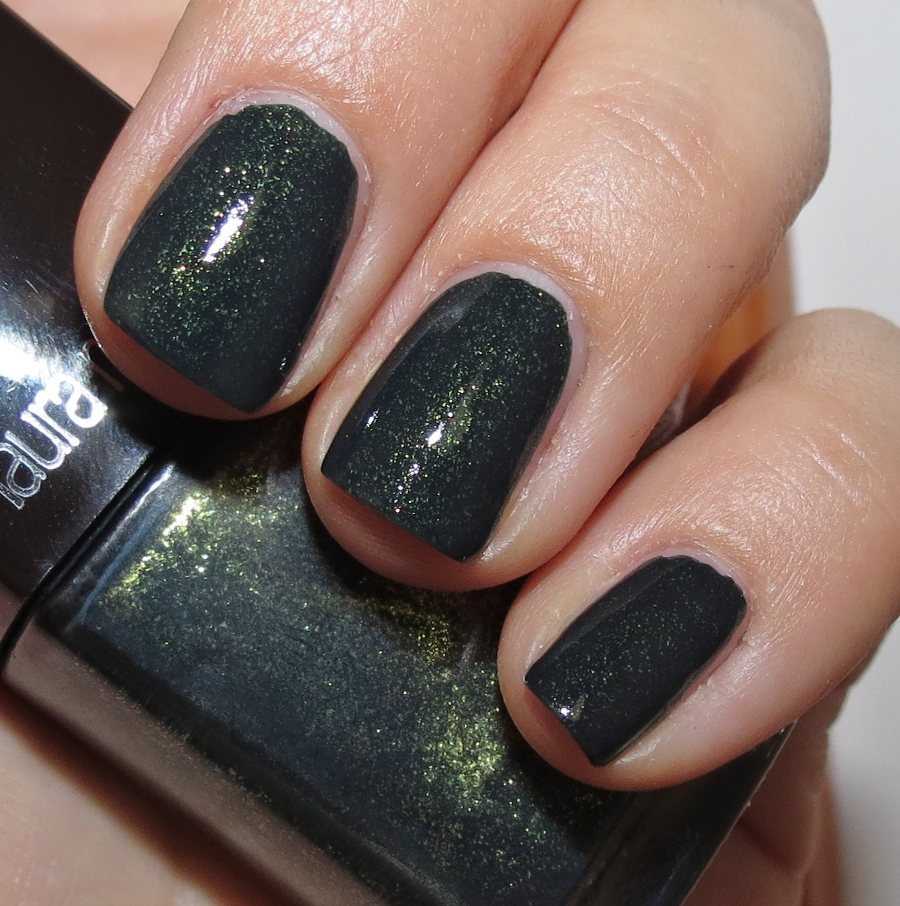 Black Nail Polish Swatch: Laura Mercier BEWITCHED Nail Lacquer Swatches & Review