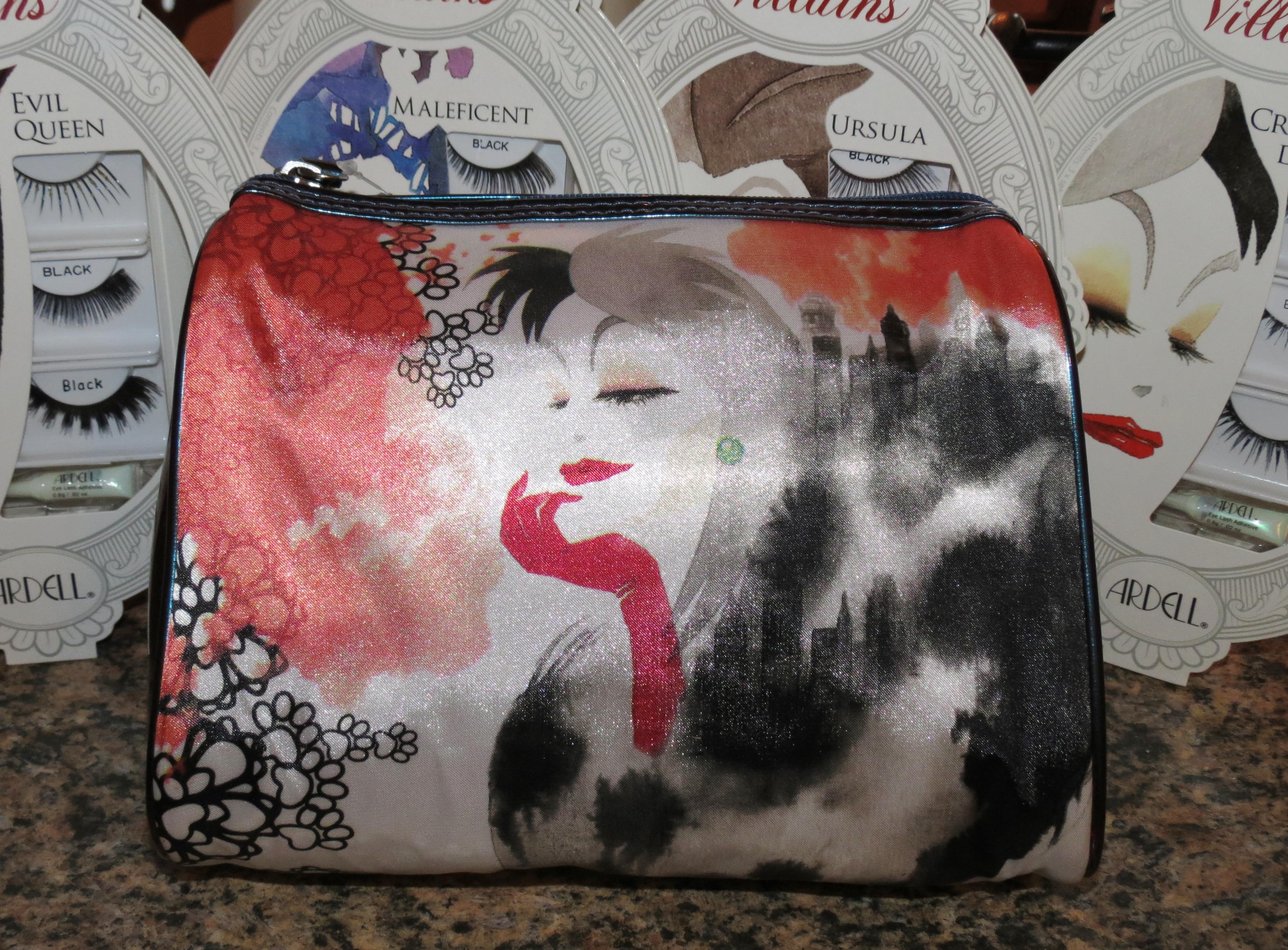 Maleficent Disney Villain Fabric Pencil Pouch//Makeup Bag Ursula Cruella de Vil