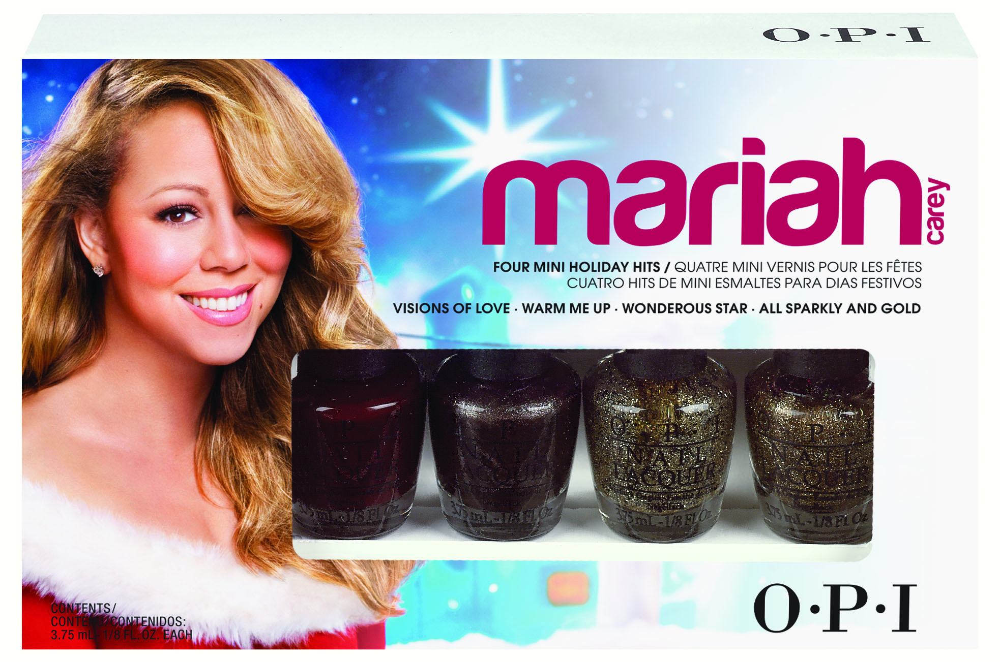 Opi Launches 4 New Limited Edition Mariah Carey Holiday Gift