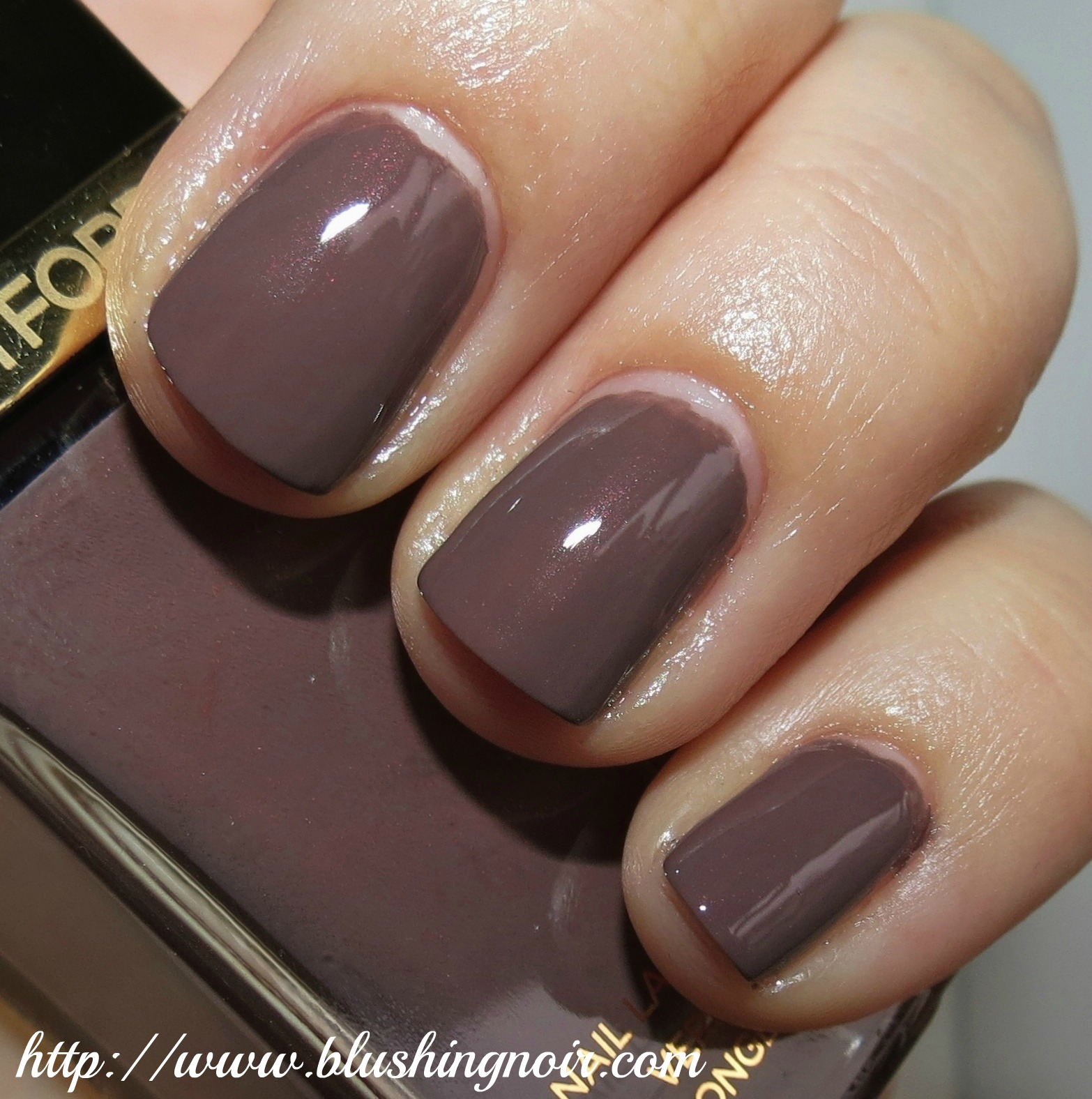 Tom Ford Black Sugar Nail Lacquer Swatches & Review - Blushing Noir