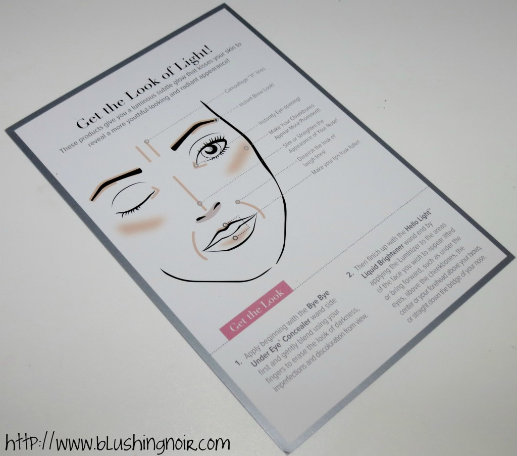 IT Cosmetics Get the Look of Light face chart