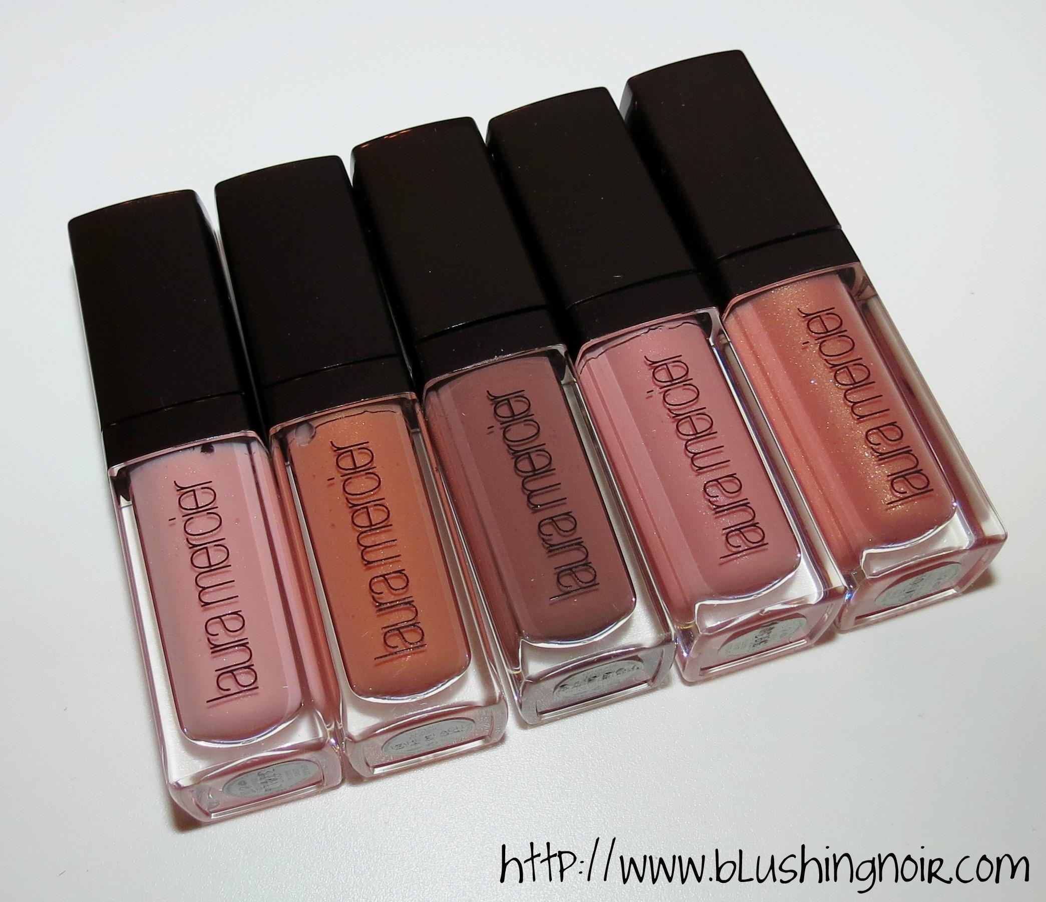 Laura Mercier Bare Nudes Mini Lip Glac 233 Set Swatches